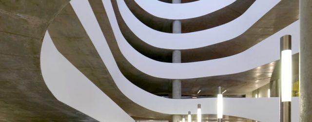 Exemple moderne d'architecture béton