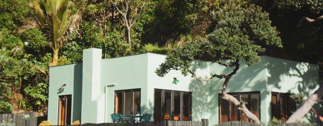 Une maison bleue oderne